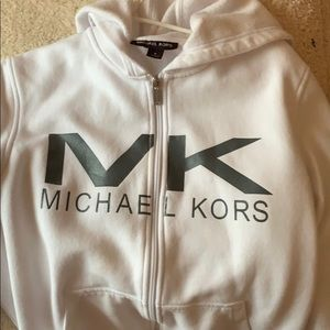 Michael kors white and silver jacket